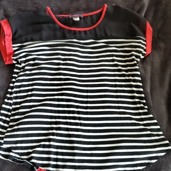 Annabelle Tops - Striped Maternity Top